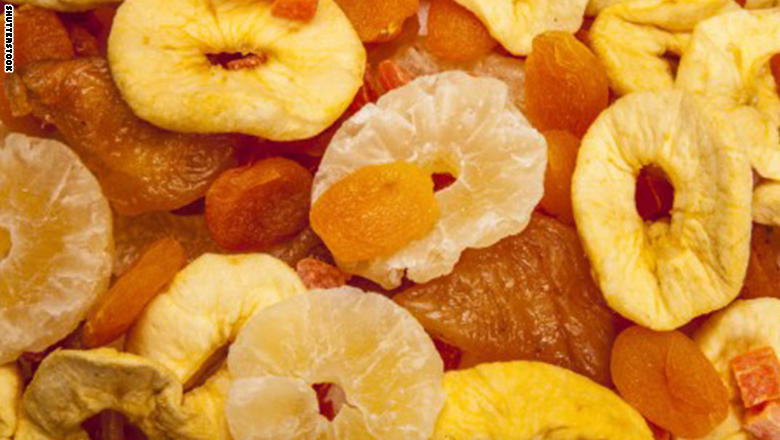 الفاكهة المجففة أكثر فائدة