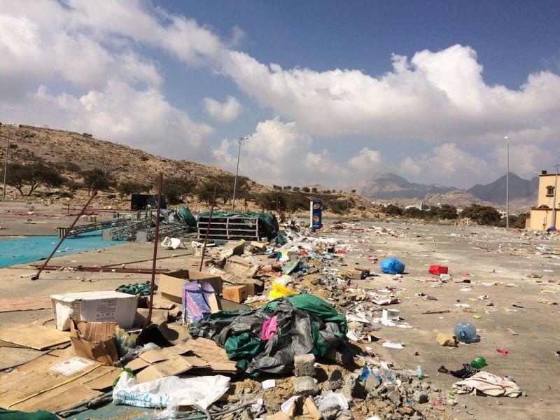 بلدية #تنومة: موقع المهرجان لا زال بإستلام المستثمر ويعمل على ازالة المخلفات