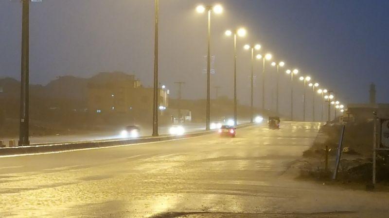 #أمطار على محافظة #بارق