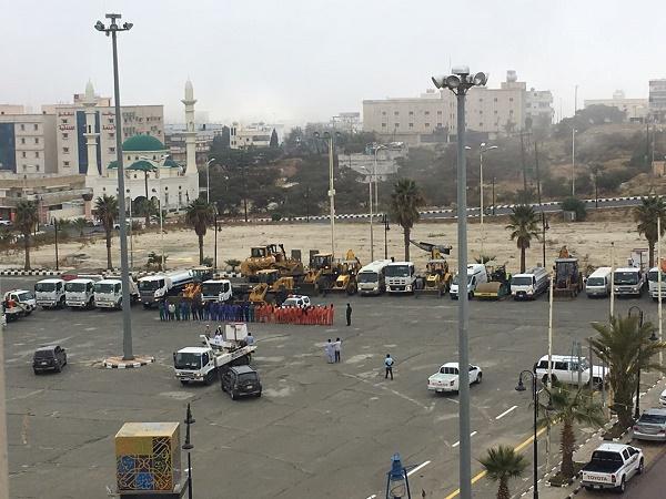 بلدية #النماص تستعد لموسم الأمطار