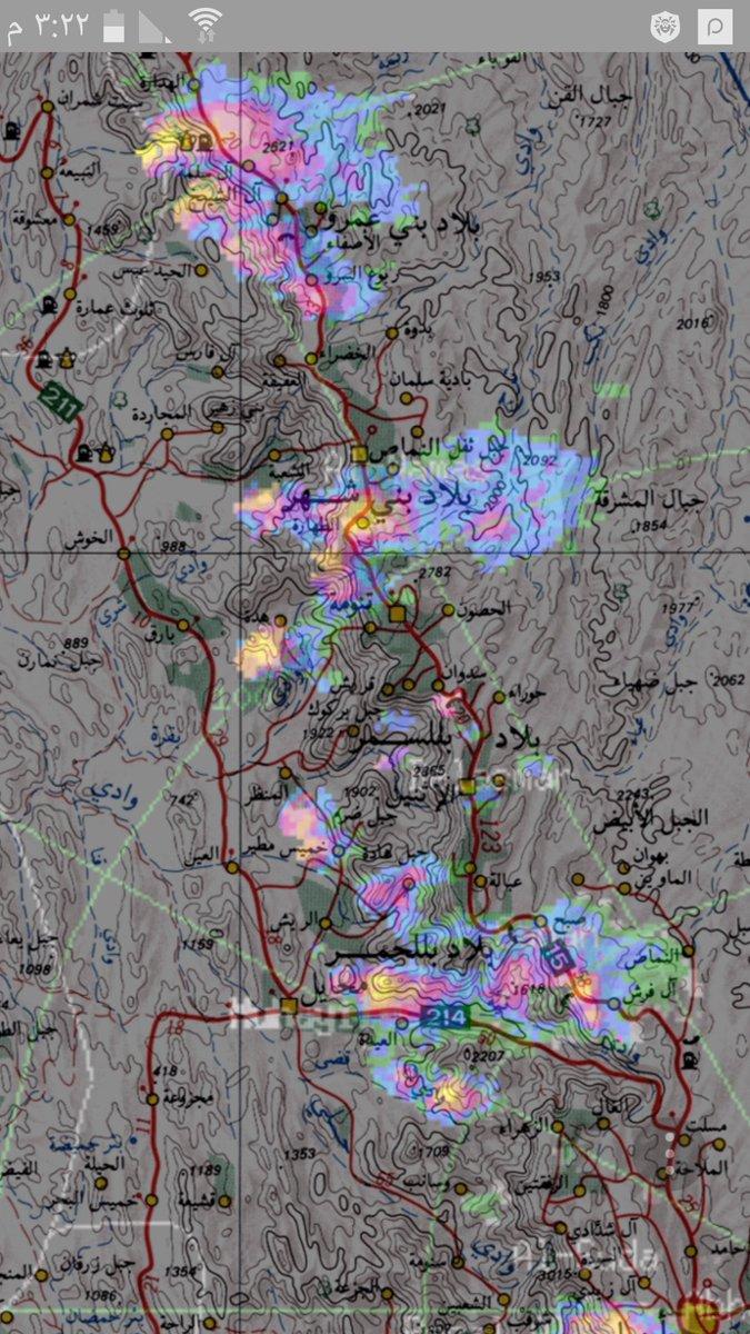 #أمطار على #النماص و #بلقرن