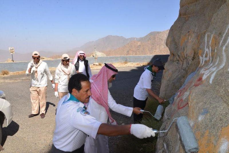 آل قاسم يشارك الكشافة والجهات الحكومية في حملة حماية البيئة
