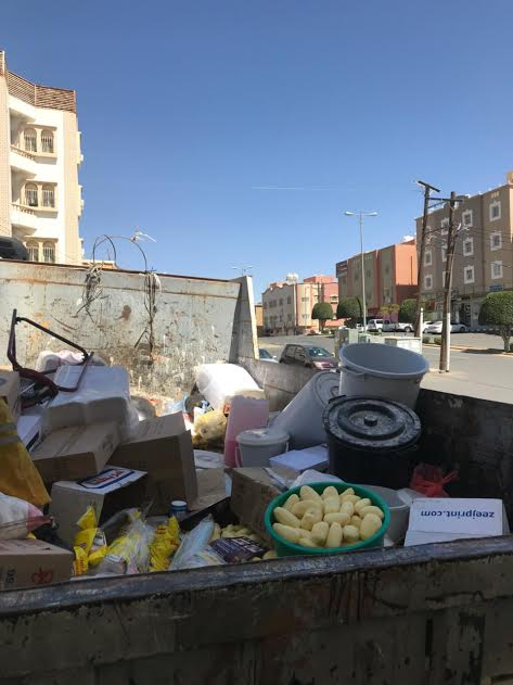أمانة عسير تضبط عمالة تعد الاطعمة في شقة سكنية مخالفة