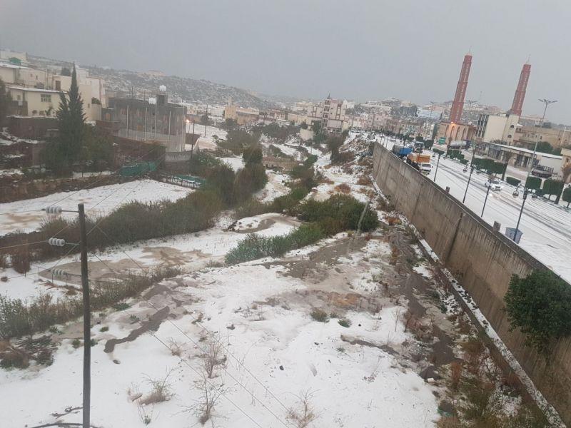 #أمطار على #عسير وبرد على #بللحمر و #بللسمر
