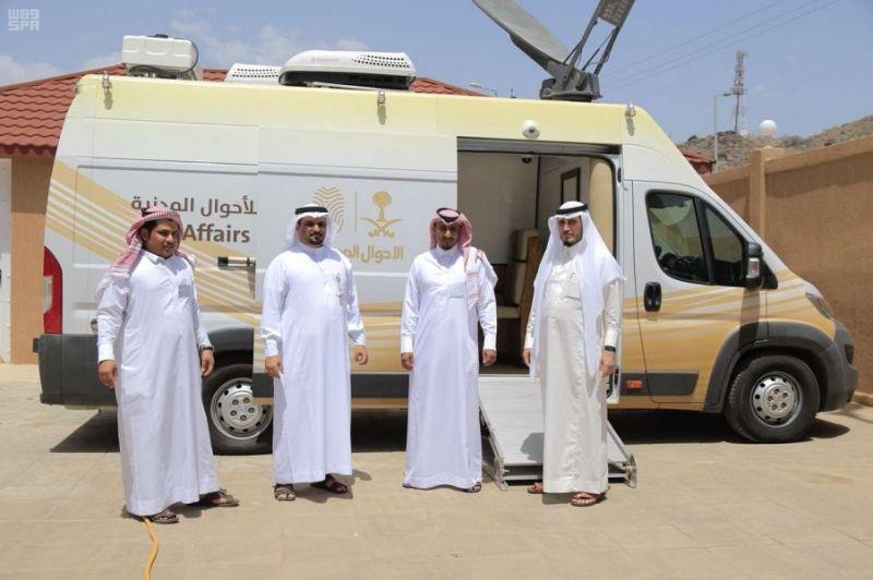 عربة الأحوال المدنية المتنقلة تقدم خدماتها لأهالي محافظة بارق