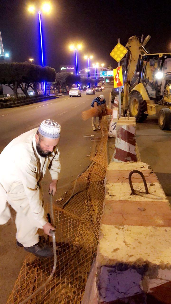 أمانة عسير تنهي مشروع عبارة الحزام ضمن حزمة من مشاريع درء اخطار السيول و تصريف مياه الامطار