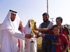 اختتام دوري كرة القدم للمرحلة الابتدائية بمكتب التربية والتعليم بتنومة