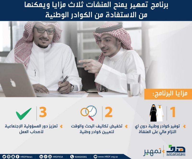 """منشآت القطاع الخاص تتفاعل مع برنامج """"تمهير"""" وتطرح فرصها التدريبية للسعوديين والسعوديات عبر """"طاقات"""""""
