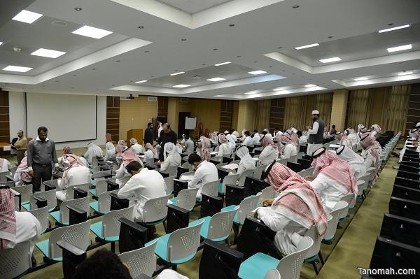 أكثر من ٦٠ ألف طالب وطالبة يؤدون اختباراتهم اليوم بجامعة الملك خالد
