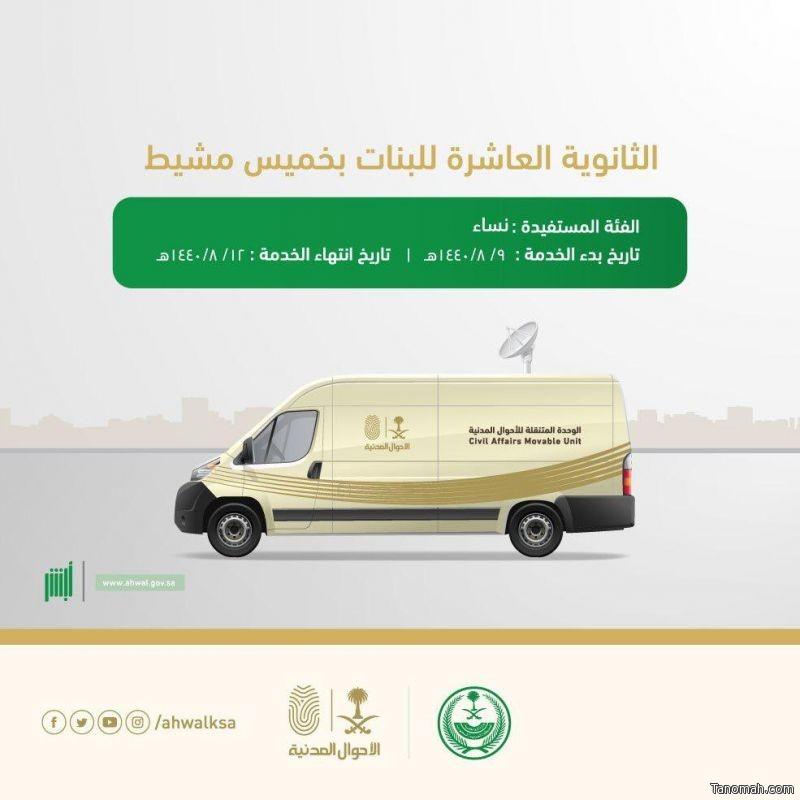 وحدة الأحوال المدنية المتنقلة تقدم خدماتها لأهالي مركز الصبيخة