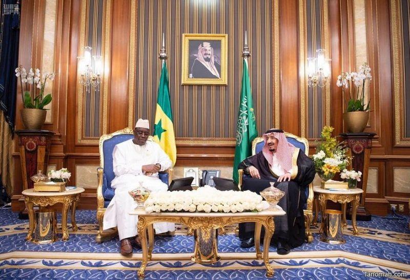 خادم الحرمين الشريفين يلتقي رئيس جمهورية السنغال