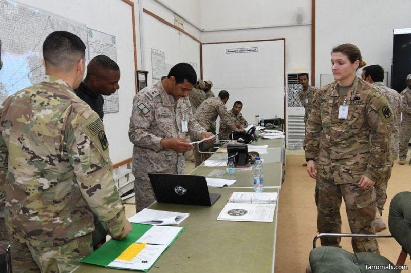 """استمرار التمرين المشترك """" القائد المتحمس 2019 """" بين القوات السعودية والقوات الأمريكية."""