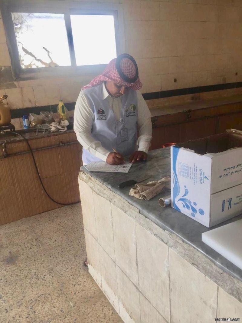بلدية بارق تغلق مطعمين و 3 محلات مهنية