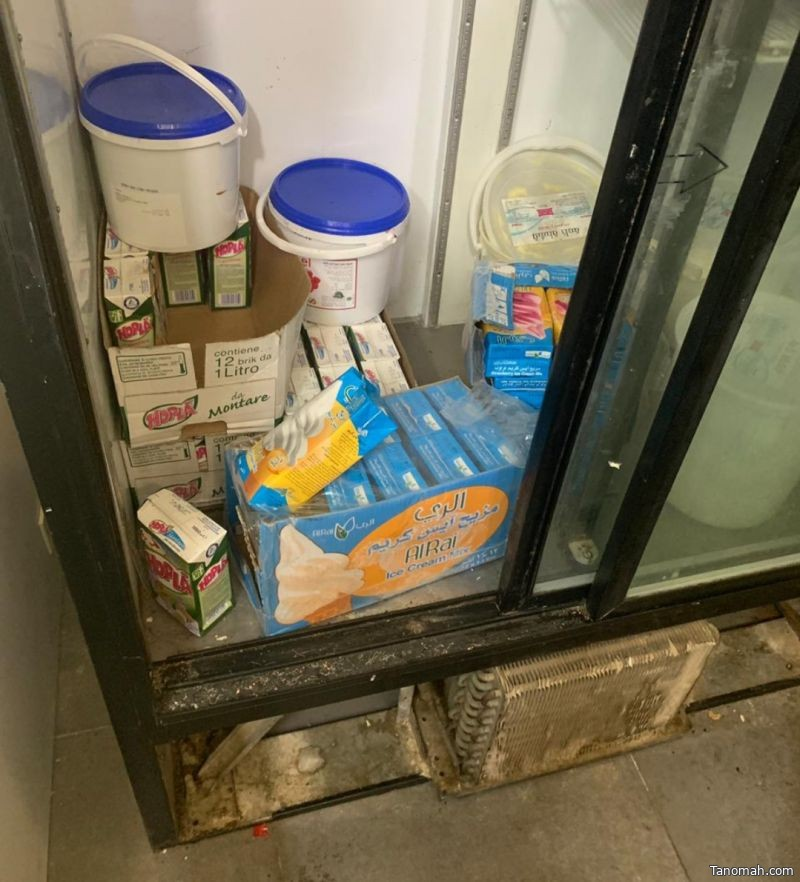 بلدية النماص تضبط معمل حلويات داخل منزل
