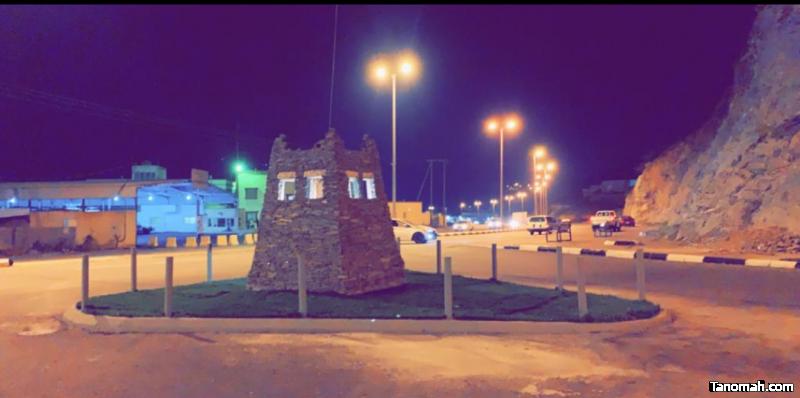 مكتب الخدمات البلدية بالحبيل يصمم مجسماً تراثياً يرمز للمركز
