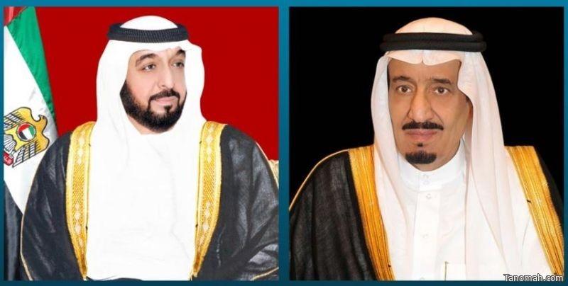 خادم الحرمين يهنئ الشيخ خليفة بن زايد بمناسبة تجديد الثقة به رئيساً لدولة الإمارات