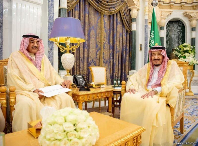خادم الحرمين يتسلم رسالة من أمير الكويت
