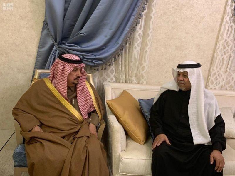 سمو أمير الرياض يقدم العزاء في وفاة شقيقة حيدر المؤنس - رحمها الله -