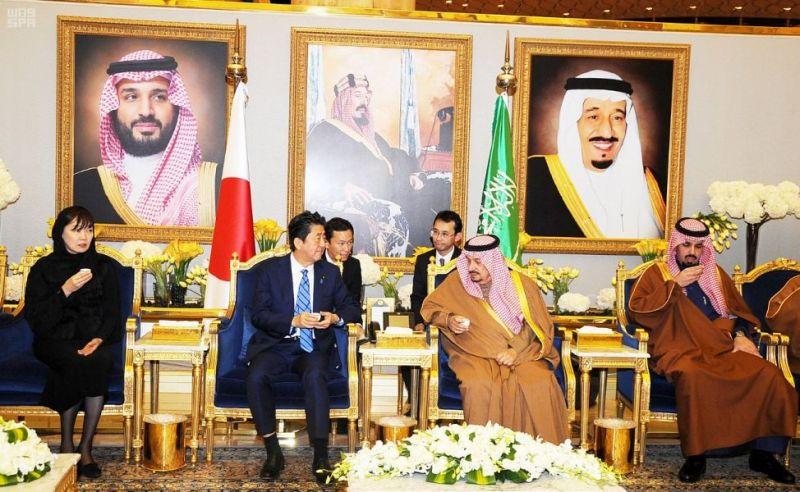 رئيس وزراء اليابان يصل الرياض