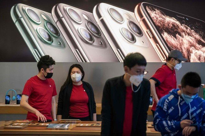 """الإغلاق المؤقت لفروع """"أبل"""" في #الصين بسبب """"#كورونا"""""""