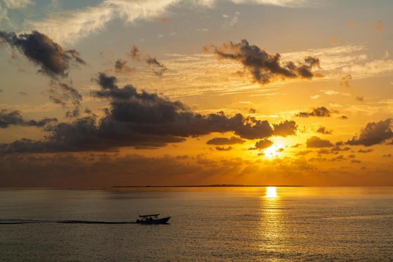 أشعة الشمس تمتزج بلون البحر في #الوجه