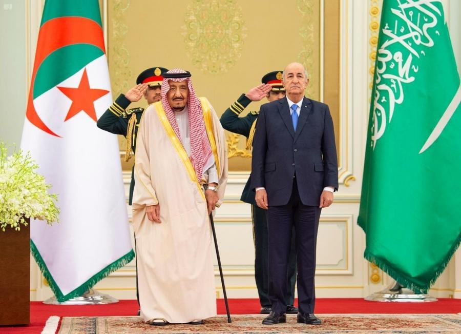 #صور من استقبال #الملك_سلمان لـ رئيس #الجزائرية