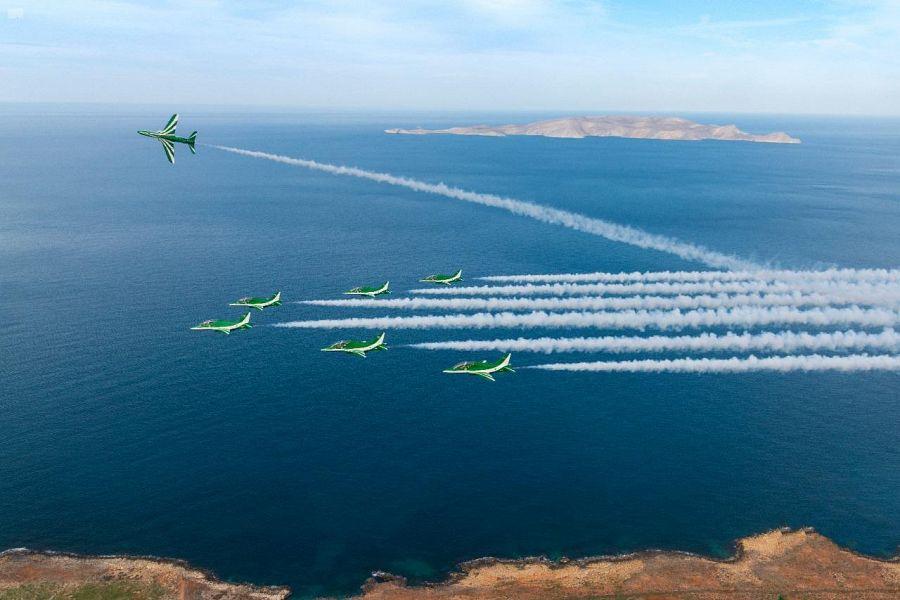 #صور : فريق الصقور السعودية يحلق في سماء تونس