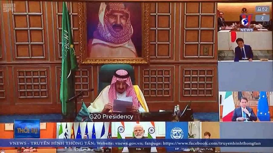 برئاسة خادم الحرمين .. قمة القادة الاستثنائية لمجموعة العشرين تصدر بياناً حول فيروس كورونا