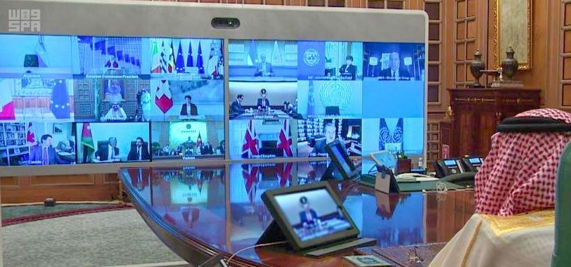 #صور للقمة الاستثنائية الافتراضية لقادة #دول_مجموعة_العشرين