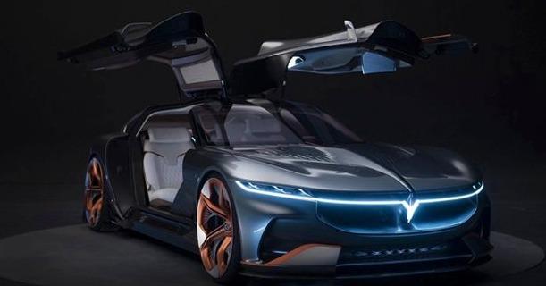 """الكشف عن """"i-Land"""" الصينية السيارة الكهربائية ذات الأبواب المجنحة وبدون مرايات جانبية"""