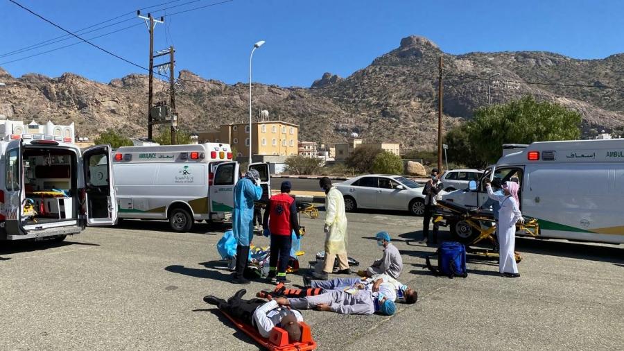 نجاح فرضية حادث مروري بمستشفى #تنومة
