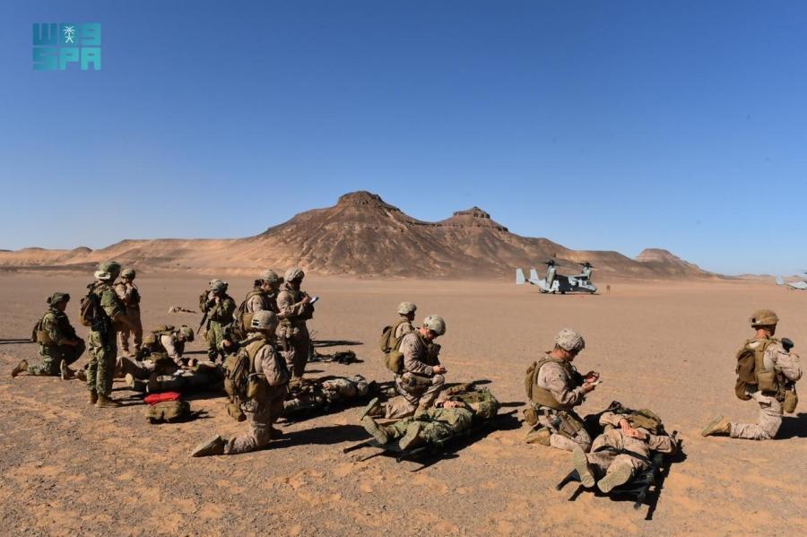 """#صور من تمرين """"مخالب الصقر 4"""" بين القوات #السعودية والقوات #الأمريكية"""