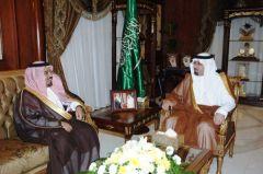 أمير منطقة نجران يستقبل أمين المنطقة سعادة المهندس/ سعد بن فايز الشهري.