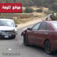 حادث مروري في طريق قنطان يسفر عن اصابات