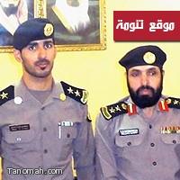 مدير شرطة النماص يقلد قائد الدوريات الأمنيه والأمن الوقائي رتبته الجديده