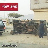 حادث تصادم شمال مركز تنومة يسفر عن اصابات