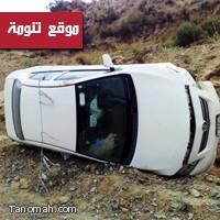 حادث انقلاب شمال تنومة نتيجة ضيق الطريق