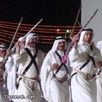 صور من مشاركة فرقة رجال الحجر في حفل اليوم الوطني بعسير