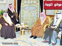 الشيخ فايز الحيد يتشرف بالسلام على نائب خادم الحرمين الشريفين