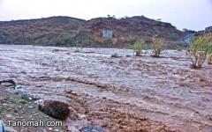 أمطار غزيرة على بارق والمجاردة مصحوبة برياح تقطع الكهرباء