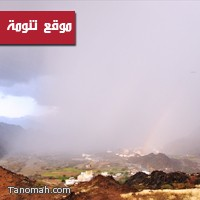 هطول أمطار على محايل والمجاردة