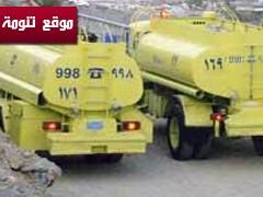 فرق من الدفاع المدني تحاول على اخماد حريق شمال تنومة