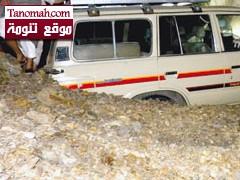 انهيار صخري على منزل  احدى الاسر بقرية بتهامة