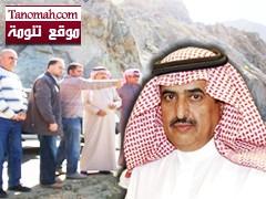 محافظ النماص يحث مقاول مشروع عقبة الملك عبدالله على سرعة انجاز المشروع