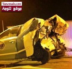 سيارة بلدية تنومة تتسبب في مسلسل اصطدام سيارات منها دورية في المجاردة