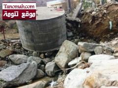 أمطار غزيرة وغير مسبوقة تجرف المزارع وتدمر الآبار في بدوة شمال النماص