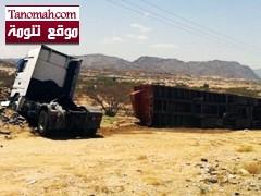 تزايد ظاهرة قذف السيارات بالحجارة على طريق بارق والضحية الاخيرة شاحنة