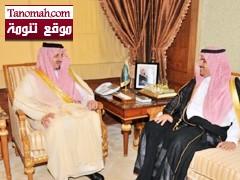 أمير منطقة عسير يستقبل مدير جامعة الملك خالد