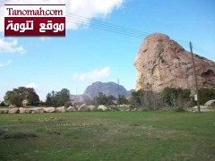 """فرق الدفاع المدني تحاول انقاذ شاب علق في جبل """"عبدالله"""" بتنومة"""