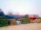 مجهولين يطلقون النار على مزرعة  في بللحمر ويحرقون ما فيها من أعلاف